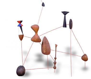 Alexander Calder, Vertical Constellation with Bomb, 1943
