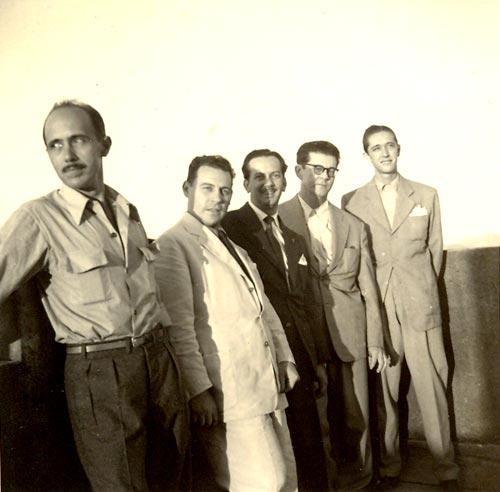 Garoto, Radam?s Gnattali e Chiquinho do Acordeom (do centro ? direita) - Foto: acervo Jorge Mello