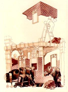 Obra Juarez Machado, construção, sem data.